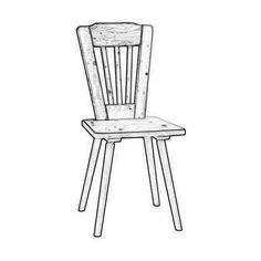 W2803. Sedia rustica in legno massello a scelta tra legno di abete o rovere naturale.