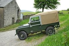Land Rover 88 Inch Series One Soft Top canvas. Classic green an carpet- Love it.