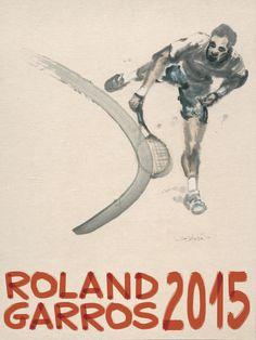 2010 Roland Garros Nalini Malani Art Print Original French Open Tennis Poster
