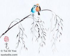 Original Sumi-e For Sale- Tai Oi Yee's Chinese Ink Painting Gallery - Custom Chinese calligraphy- 戴愛兒 - 簡約寫意水墨畫