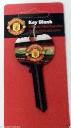 Man United Door Key Football Gifts (Key Cut This Key To Your Fit Your Door) Official Football Soccer Gifts  Take This to any key cut (TIMPSONS)or any other Key Cutting Store  Cut to Fit You Door FREE POSTAGE UK