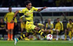 Lataa kuva BVB, Pierre-Emerick Aubameyang, ottelu, Bundesliiga, jalkapallo, Borussia Dortmund, jalkapalloilijat