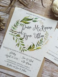 Diy rosemary wedding papers herbs wedding program or wedding this rustic wedding invitation can be customized with the to match your wedding and the wording filmwisefo