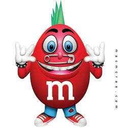 pinterest m&m's cartoon | Red Peanut Punk