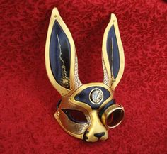 """""""March-Of-Time Hare #1"""", a clockwork rabbit with a steampunk goggle-monocle and plenty of style"""