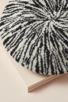 Zebra Beret | Anthropologie UK
