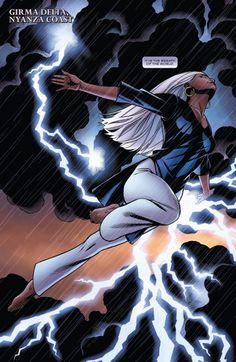 Black Panther Vol 6 // Marvel Comics Storm Comic, Storm Xmen, Storm Marvel, Black Panther Storm, Black Panther Marvel, Comic Book Characters, Marvel Characters, Comic Books, Comic Art