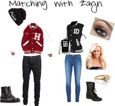 """Matching with Zayn"" by myirishmanniall ❤ liked on Polyvore"