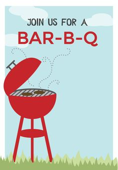 Free Printable BBQ Party Invitation - BBQ cookout | Greetings Island