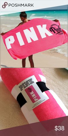 VS PINK oversized beach towel NWT Victoria's Secret Pink XL beach towel. PINK Victoria's Secret Swim