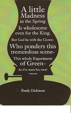 Spring! Emily Dickinson #poetry