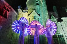 Lighting stilts in a castle | Entertainment agency | Corporate entertainment