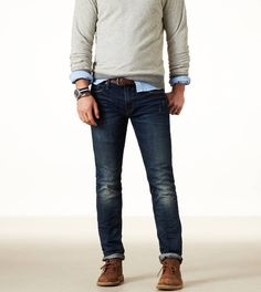 Dark Resin Skinny Jeans.