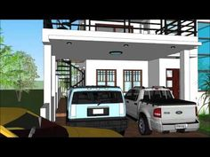 House Plan Purchase - Sets of Plan Blueprint Signed & Sealed) - Only Construction Contract: P M - Low-End/Budget P M - Mid-Range/Standard. 2 Storey House Design, Construction Contract, Roof Deck, Cabins And Cottages, Open Floor, House Floor Plans, Exterior Design, Home And Living, Small Houses