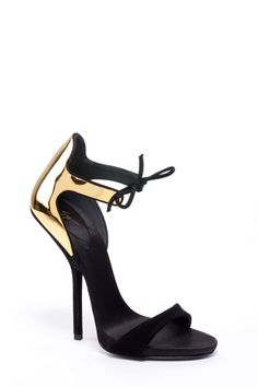 Giuseppe Zanotti SS2013  My husband's favorite type of shoes on me; the strap around the ankles! Very comfortable too!