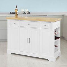 SoBuy® FKW42, Kitchen Cabinet Cupboard Sideboard, Kitchen Island, Kitchen Storage Trolley
