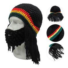 6567f2ab893 Warm Creative Headwear Ski Mask Caps Jamaican Reggae Beard Wig Hat Beanie   fashion  clothing  shoes  accessories  mensaccessories  hats (ebay link)