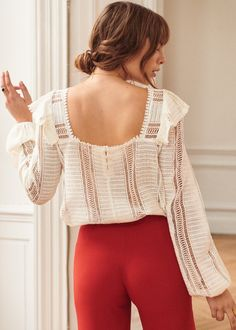 Boho chic blouse with delicate motifs and a floaty feel Eleonore Toulin, French Chic Fashion, Bohemian Fashion, Style Bobo Chic, Blouse En Coton, Mode Plus, Inspiration Mode, Best Wear, Dressing Rooms