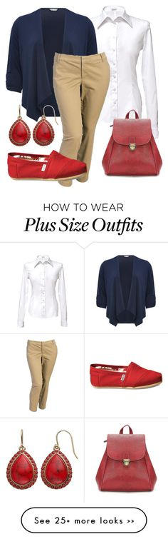 """Plus Size Work Style Casual Office"" by cyndi1966 on Polyvore"
