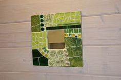 Mosaik  Spiegel Grün Wandbild  von Mosaik-und Kreativwerkstatt auf DaWanda.com