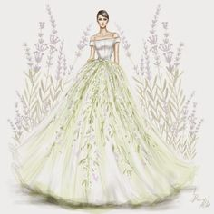 2015 Haute Couture Dresses Illustration by Arab illustrator Shamekh Fashion Design Drawings, Fashion Sketches, Fashion Illustrations, Prom Dresses Uk, Girls Dresses, Dress Illustration, Dibujos Cute, Dress Sketches, Art Sketches