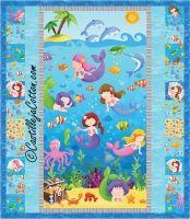 Crib Quilt Kit baby quilt kitMermaid by castillejacotton Twin Quilt Pattern, Bargello Quilt Patterns, Bargello Quilts, Rag Quilt, Children's Quilts, Quilting Patterns, Art Quilting, Pattern Fabric, Applique Patterns