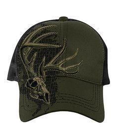ccfb13d8d59 Loving this Moss Brush Skull Mesh Baseball Cap on  zulily!  zulilyfinds Hunting  Hat