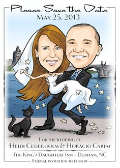Hey, I found this really awesome Etsy listing at https://www.etsy.com/listing/212425879/unique-caricature-save-the-date-wedding