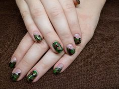 Day 50: Camouflage Nail Art - - NAILS Magazine