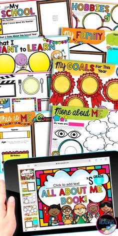 A digital all about me book is the perfect back to school icebreaker activity to get to know your students through distance learning!  Google Classroom activities for distance learning are so user friendly and no prep for the teacher.  Fun and colorful digital back to school writing activity for 1st grade, 2nd grade, 3rd grade, 4th grade, or 5th grade. Easy and meaningful first week of school activity elementary students can complete at home or in the class   Back to school activities for…