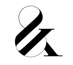 Typeface and ampersand by Moshik Nadav
