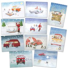 Hey, I found this really awesome Etsy listing at https://www.etsy.com/listing/208599443/christmas-vw-camper-van-beetle-and-ghia