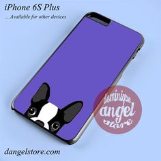 Purple Boston Terrier Phone case for iPhone 6S Plus and another iPhone devices