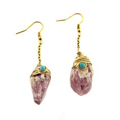Sam Moon | Natural Quartz Dangle Earrings $5.50