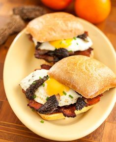 Bacon, Egg and Morel Sandwiches. Here's a tasty way to get your minimum daily requirement of vitamins B, E and M (Bacon, Eggs & Morels, of course).