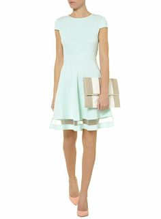 Mint textured skater dress. Super cute. Can't find the actual site, though.