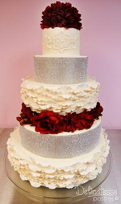 Wedding Cake ❀❀❀  ADD #diy http://www.customweddingprintables.com