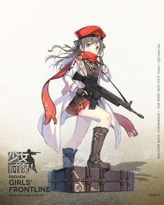 Model L Anime Military, Military Girl, Character Concept, Character Art, Concept Art, Ww Girl, Star Wars Models, Anime Weapons, Girls Frontline