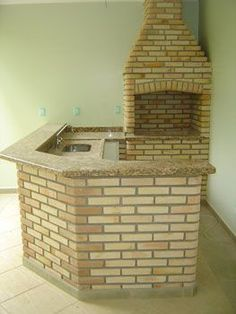 Resultado de imagem para modelos de churrasqueiras Outdoor Kitchen Design, Kitchen Decor, Brick Bbq, Barbecue Grill, Interior Design Living Room, House Plans, Sweet Home, New Homes, Backyard
