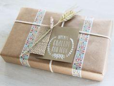 Beautiful washi tape packaging set - Un precioso packaging con wshi tape   Little Hannah