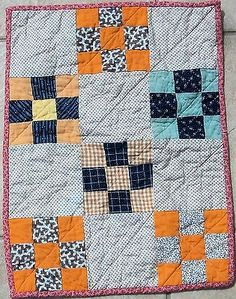 Doll Quilt Miniature Quilt Civil War Era Antique Tiny Blocks