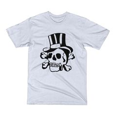 Jolly Roger Top Hat Old-School Tattoo Men's Short Sleeve T-Shirt