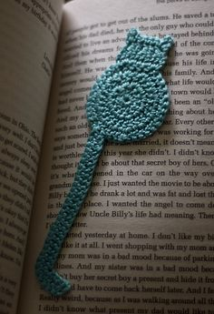 Ravelry: cat bookmark pattern by Justyna Kacprzak, have made this, sweet :)