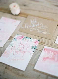 Floral wedding invitations: http://www.stylemepretty.com/little-black-book-blog/2014/11/07/provencal-bohemian-garden-wedding-inspiration/ | Photography: Greg Finck - http://www.gregfinck.com/