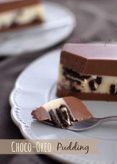 Bismillah..   Mengeksekusi resep yang udah bertaun-taun dibookmark.. wkwkwk   Udah lama ngincer resep ini kalo maen ke blognya teh Ayu, ... Puding Oreo, Puding Cake, Resep Cake, Jelly Desserts, Pudding Desserts, Sweet Recipes, Cake Recipes, Dessert Recipes, Food N
