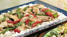 Add something flavorful to your family's Asian dinner! Serve stir-fried chicken and vegetables over rice - a dish that's ready in 30 minutes!