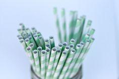 Mint Green Straws