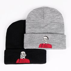 0be65a9b3ea Malcolm Knitted Beanie Mac Miller Embroidery Knit Cap McCormick Knitted Hat  Skullies Winter Warm Unisex Ski