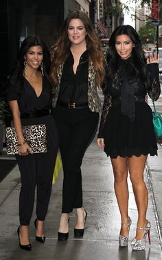 Kourtney Kardashian Along with her Two Sisters.. Three Divas!! Rosalyn...