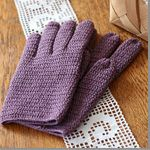 【無料編み図】長編みの手袋